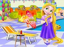 Micuta Rapunzel Petrecere la Piscina