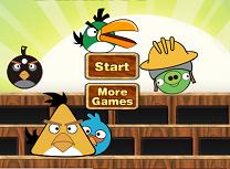 Mingea Angry Birds in Echilibru