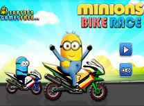Minioni Curse cu Motociclete