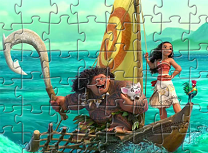 Moana si Maui Puzzle