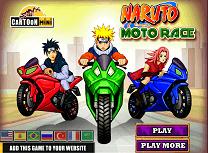 Naruto Curse cu Motocicleta