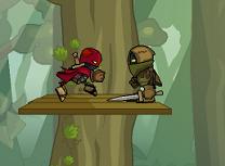Ninja in Padure
