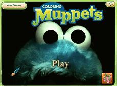 Papusile Muppets de Colorat