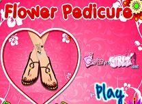 Pedichiura cu Model Floral