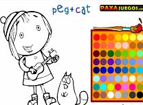 Peg si Pisica de Colorat
