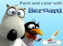 Picteaza si Coloreaza cu Bernard