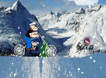 Popeye cu Motocicleta Iarna