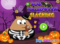 Pou se joaca de Halloween