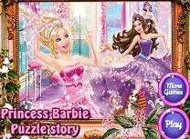 Printesa Barbie Puzzle de Poveste