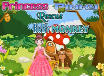 Printesa Pinky Salveaza Maimuta