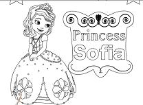 Printesa Sofia de Colorat