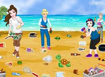 Printesele Curatenie pe Plaja