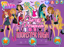 Printesele Disney la Monster High