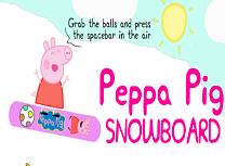 Purcelusa Peppa cu Snowboardul