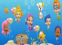 Puzzle cu Baloane si Guppy