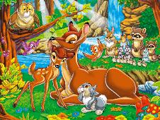 Puzzle cu Bambi