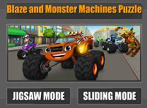 Puzzle cu Blaze si Masinile Monstru