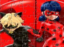 Puzzle cu Buburuza si Motan Noir