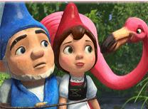 Puzzle cu Gnomeo si Julieta