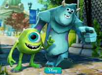 Puzzle cu Mike si Sully