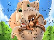 Puzzle cu Munki si Trunk
