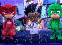 Puzzle cu Personajele PJ Masks
