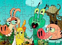 Puzzle cu Personajele Pig Goat Banana Cricket