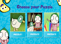 Puzzle cu Sarah si Rata