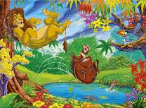 Puzzle cu Timon si Pumba