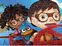 Puzzle cu Zack si Quack
