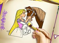 Rapunzel Carte de Colorat
