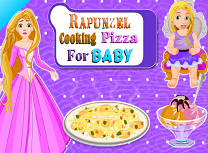 Rapunzel Face Pizza