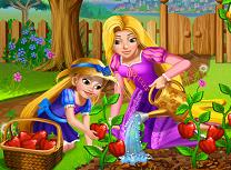 Rapunzel Gradinarit cu Fiica Ei