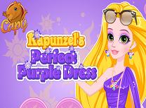 Rapunzel Rochie Mov