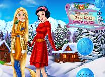 Rapunzel si Alba ca Zapada Vacanta
