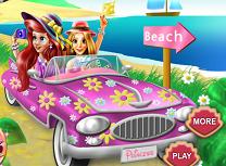 Rapunzel si Ariel La Plaja