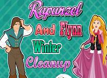 Rapunzel si Flynn Curatenie de Iarna