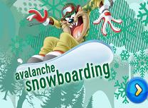 Snowboarding pe Avalansa