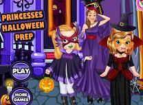 Sofia si Amber de Halloween