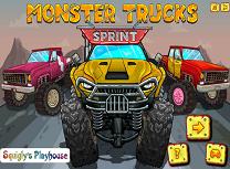 Sprint cu Masinile Monstru