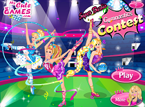 Super Barbie Concurs de Gimnastica