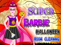 Super Barbie Curatenie de Halloween