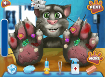 Talking Tom la Doctorul de Maini