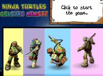 Testoasele Ninja Memoria Culorilor