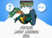 Testoasele Ninja Snowboard