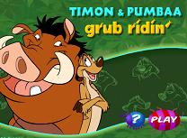 Timon si Pumba cu Placa