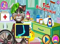 Tom Accident cu Bicicleta