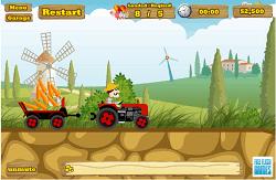 Tractorul la ferma