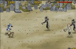 Mordecai si Rigbi in Cimitir