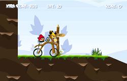 Angry Birds cu Bicicleta